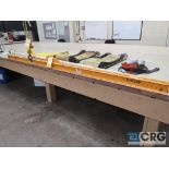 Lot including (1) Caldwell 205-1/2 spreader bar, 10' Long, 1000 lb. capacity, and (3) ass't nylon