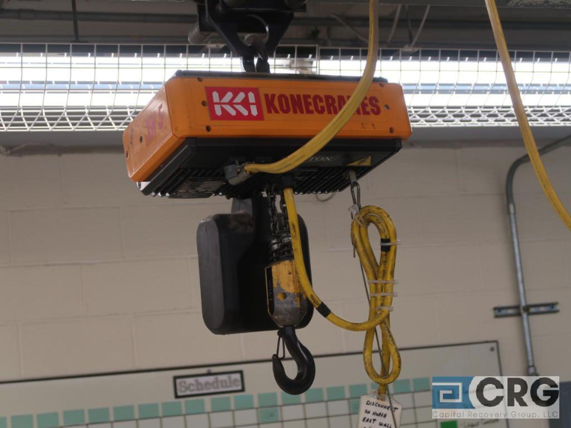 Lot of (2) Konecranes 1 Ton pendant electric chain hoists (Dandy Room) - Image 2 of 3