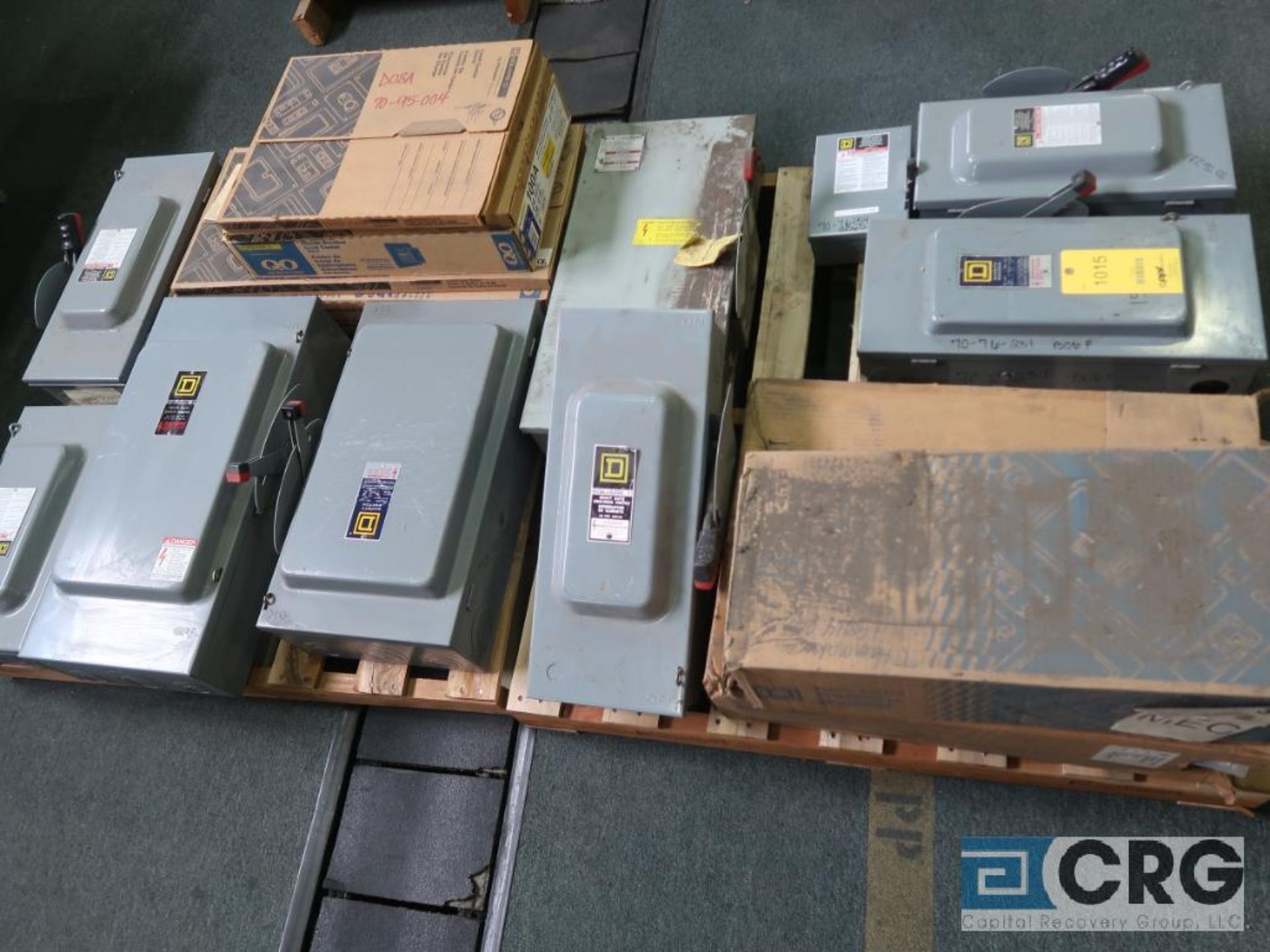 Lot of safety switch boxes on (2) pallets (Finish Building)