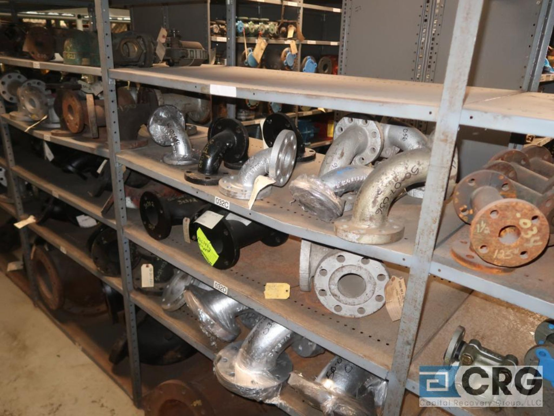 Lot of (15) sections with assorted parts including fiberglass pipes, fittings, steel fittings, tee' - Image 10 of 11
