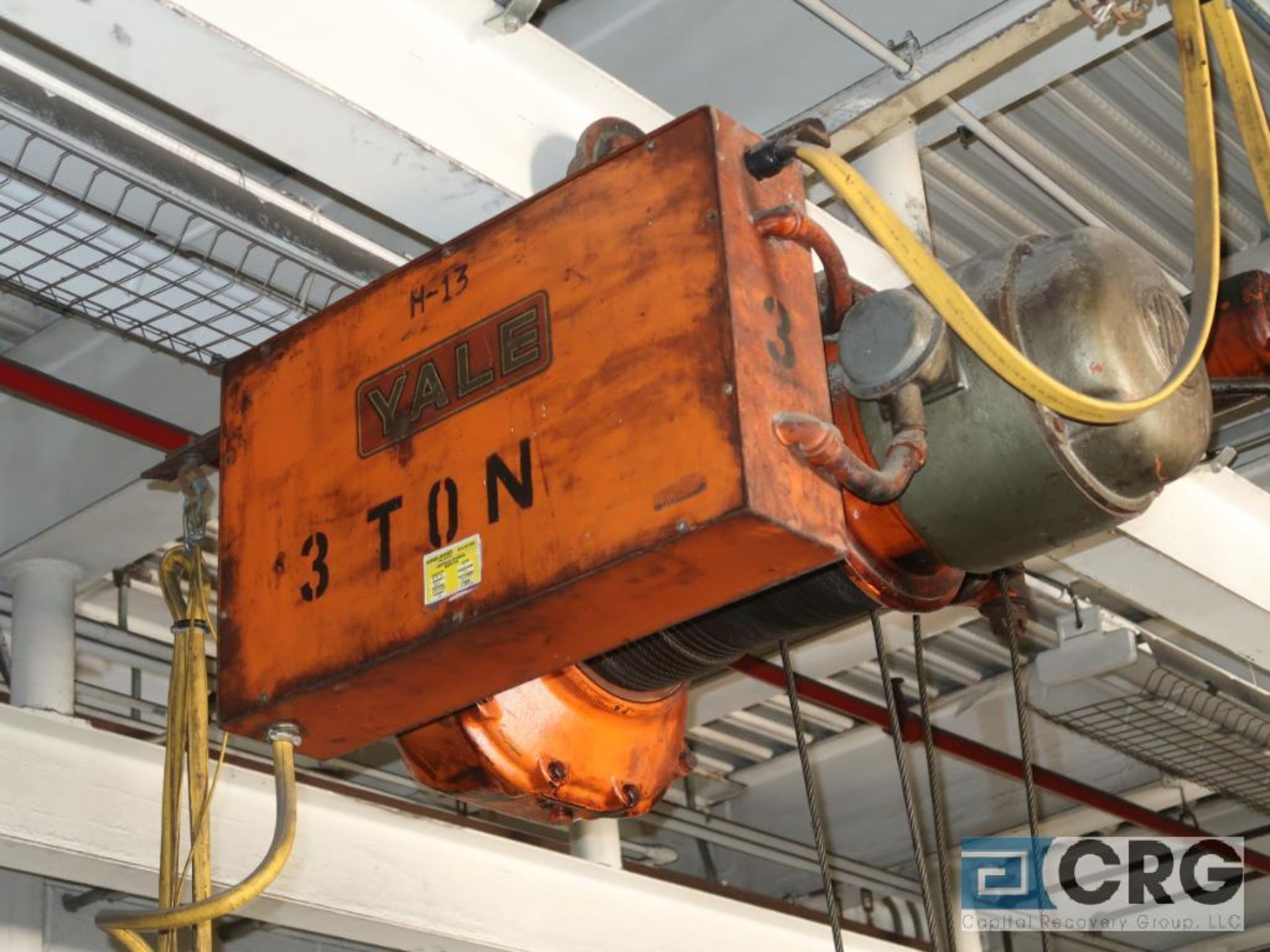 Yale electric hoist, 3 ton, hoist only, no beam (Located at Shipping Dock) - Image 3 of 3