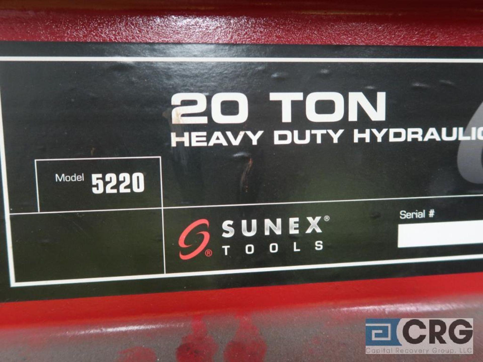 Sunex 5220 hydraulic press, 20 ton cap. (Basement Stores) - Image 2 of 2