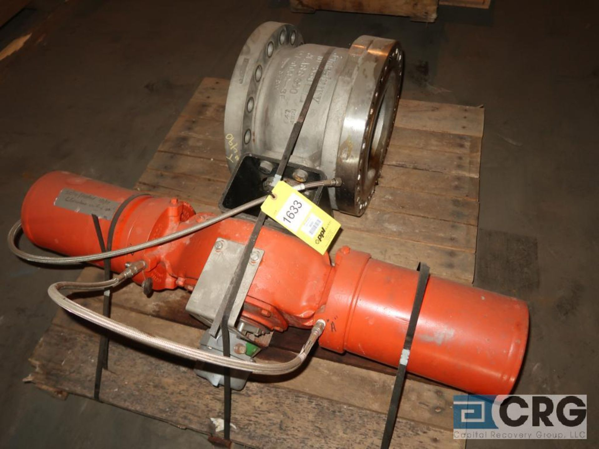 Jamesbury 10 in. stainless pneumatic ball valve, 300 psi (Off Site Warehouse)