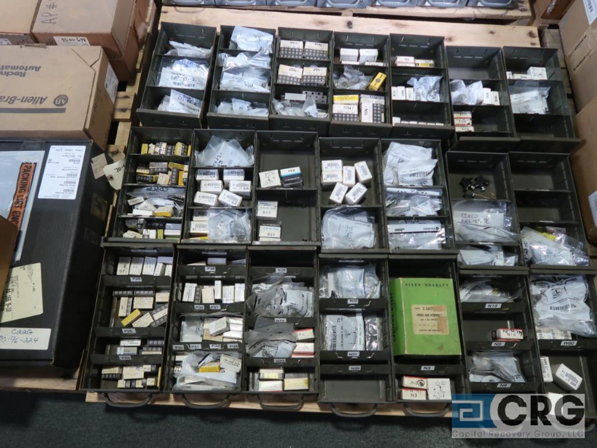 Lot of assorted Allen Bradley electrical automation on (13) pallets including sensors, relays, SLC - Image 4 of 12