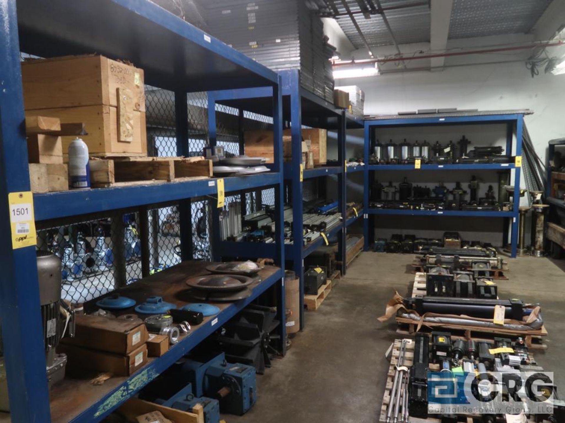 Lot of (5) shop built racks, (1) 90 in. L x 42 in. W x 40 in. H, (1) 7 ft. L x 36 in. W x 90 in.