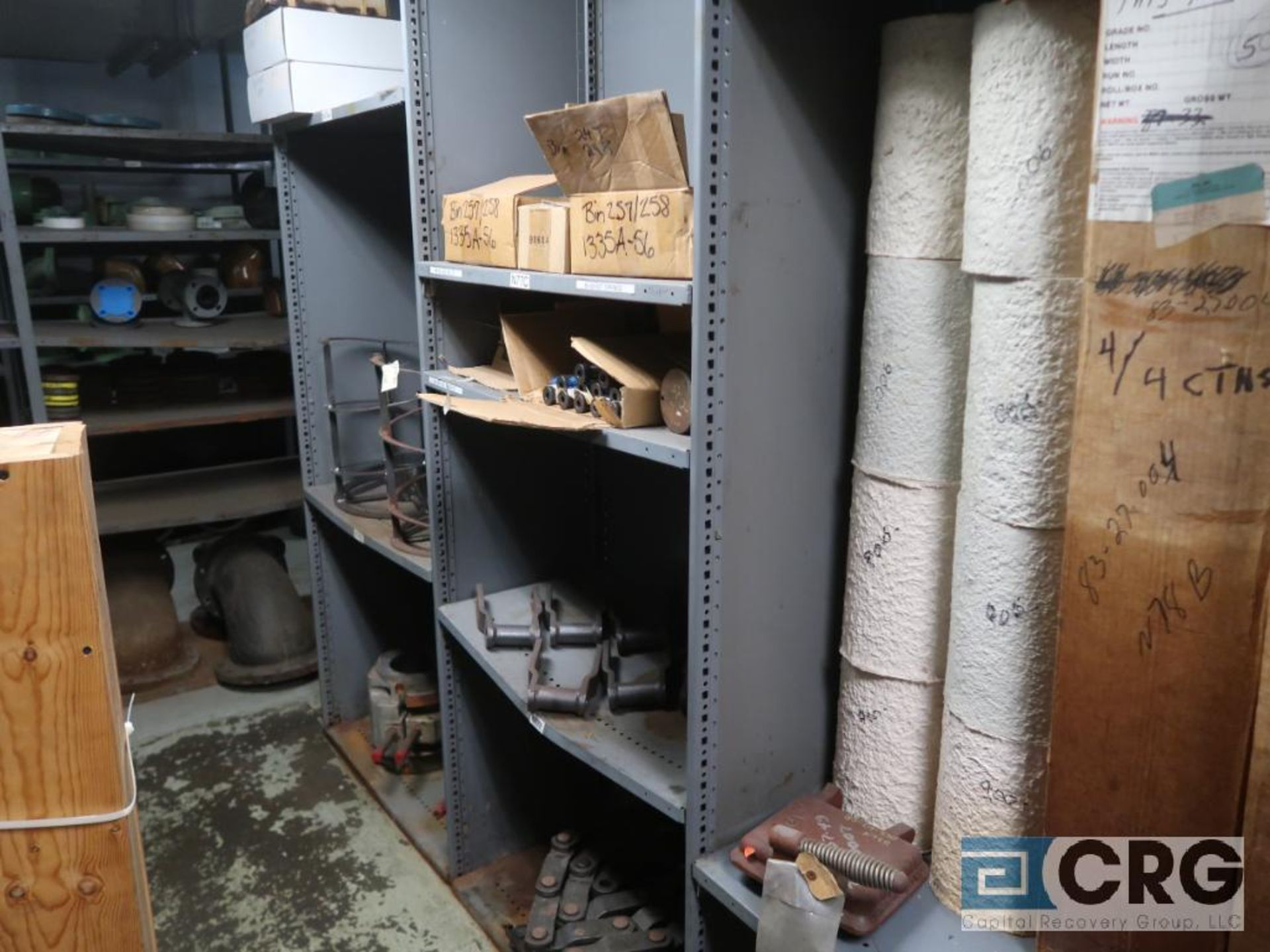 Lot of (30) sections with assorted parts including gears, chain, walves, packing, gaskets, and - Image 2 of 9