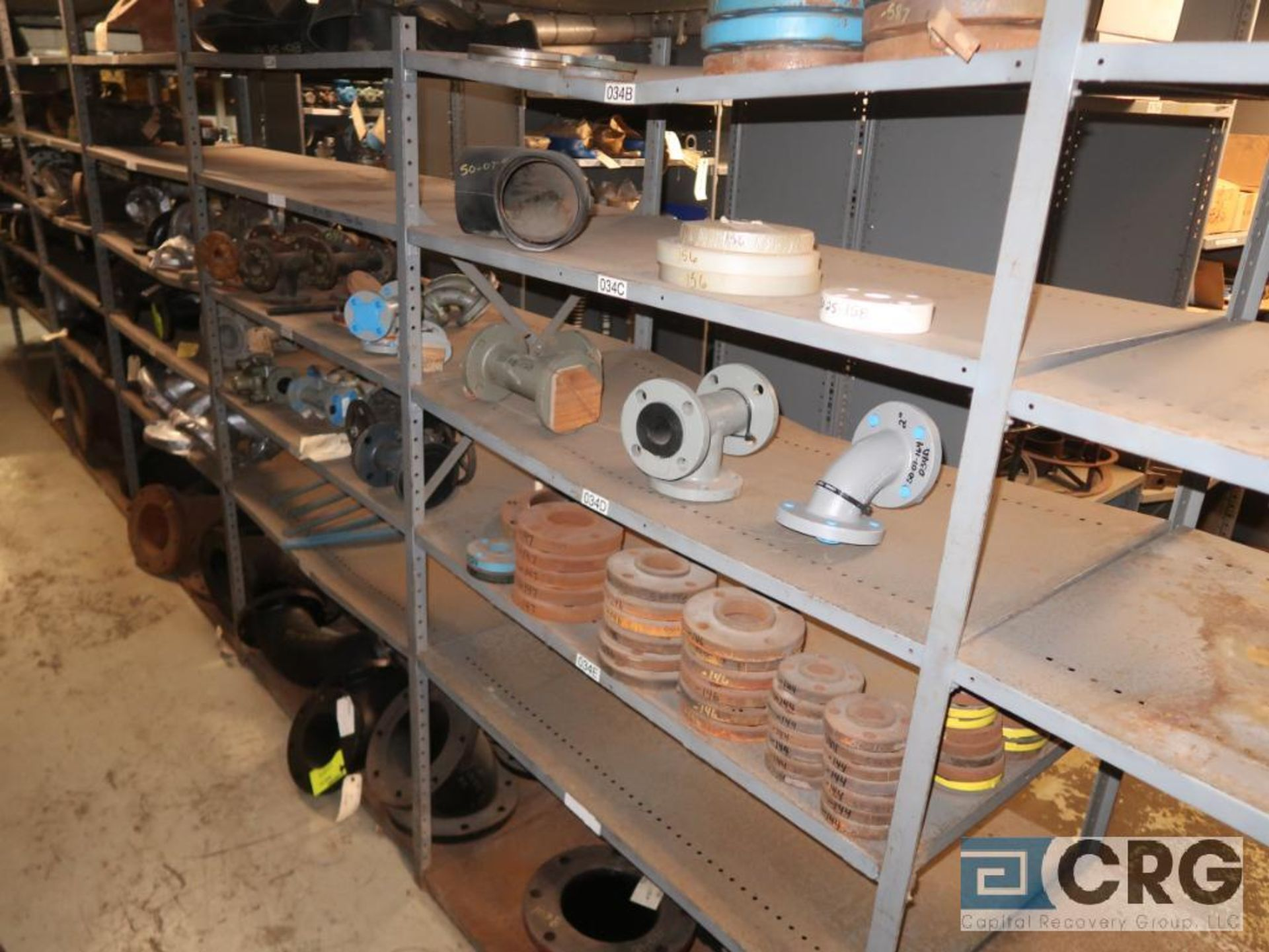 Lot of (15) sections with assorted parts including fiberglass pipes, fittings, steel fittings, tee' - Image 8 of 11