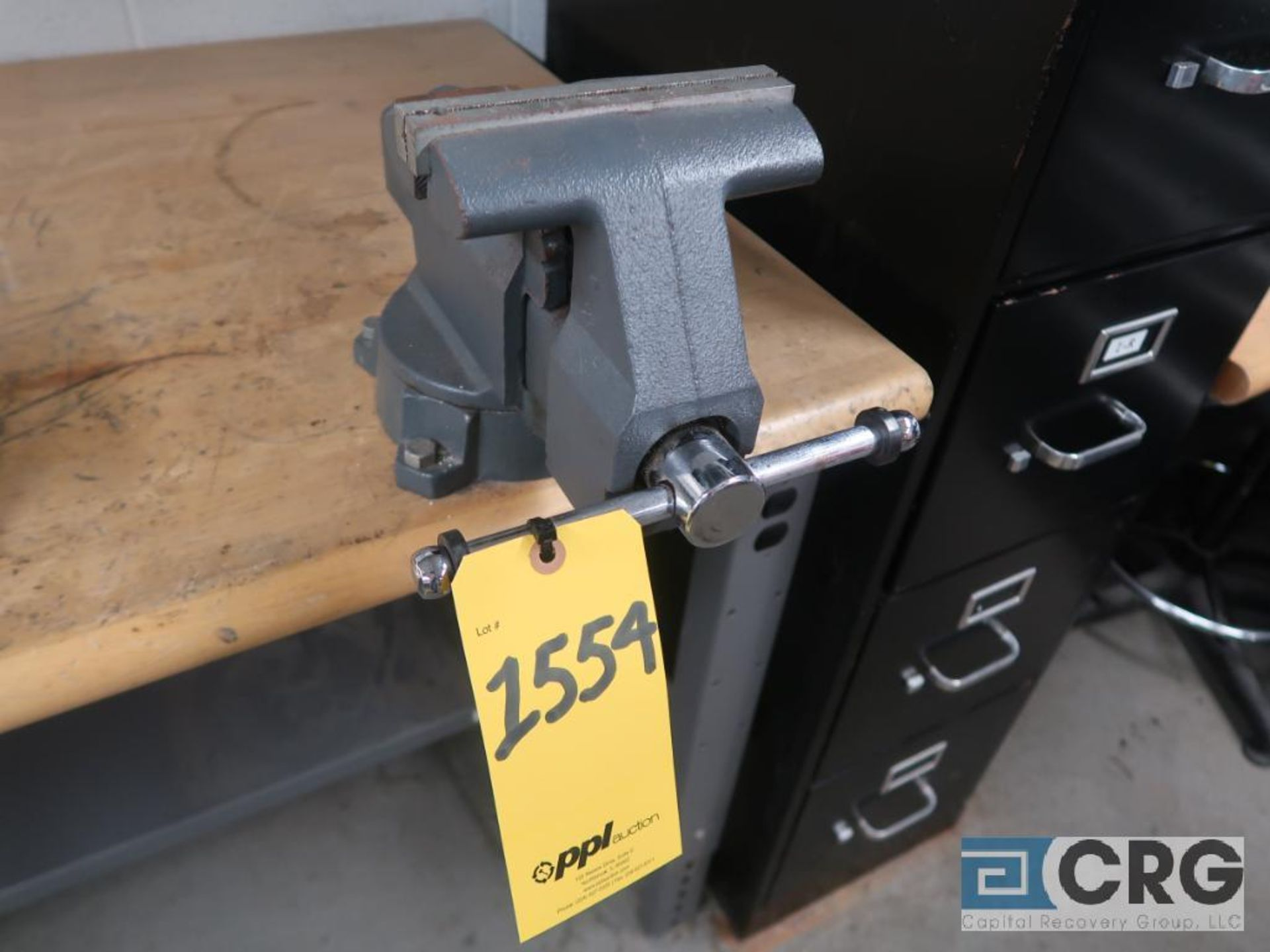 Lot of (3) work benches including (1) 8 ft. x 30 in. with 6 in. vise mounted, (1) 6 ft. 30 in. - Image 4 of 5