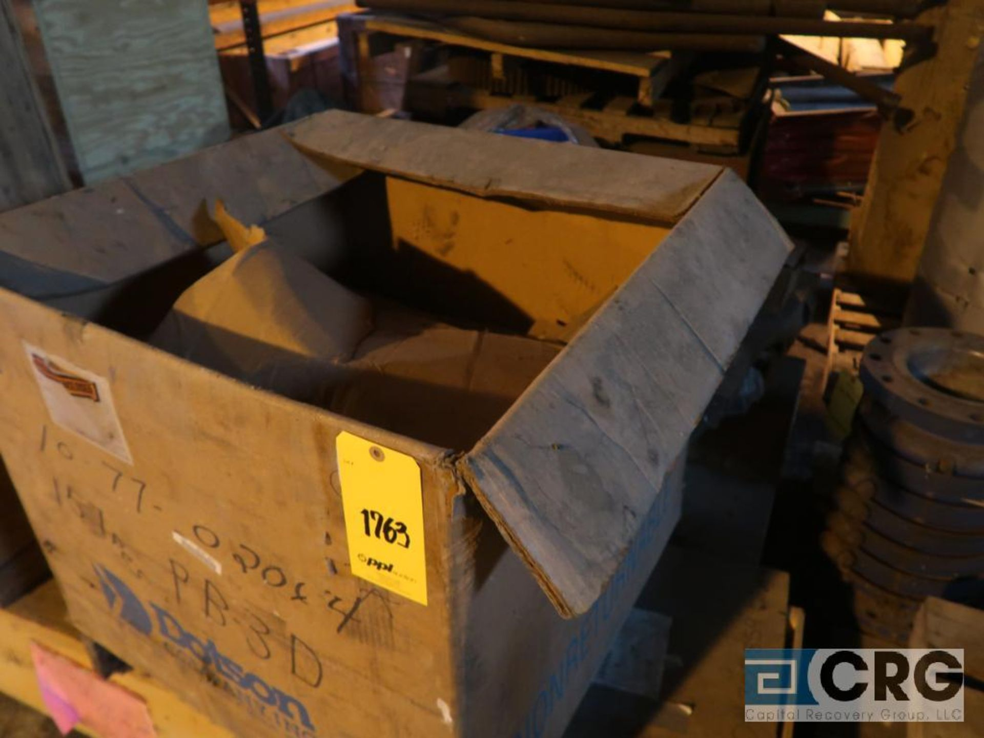 Lot of assorted parts including expansion joint, valves, fan blade, and rotors (Next Bay Cage Area) - Image 9 of 15