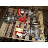 Lot of HF manual valves, 4 in.-rebuilt (496 Dock Area)