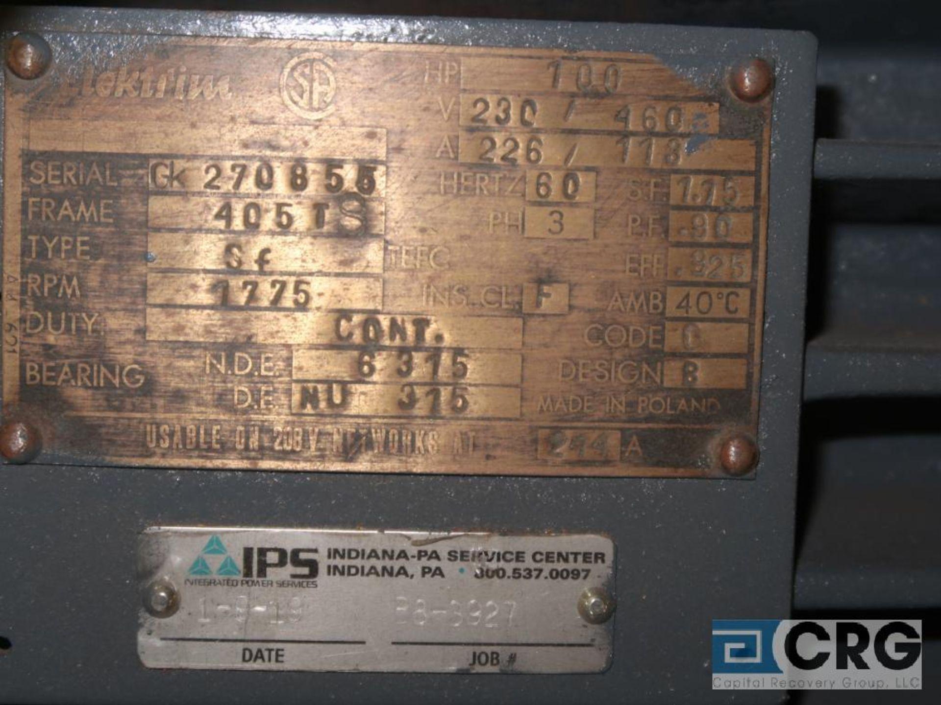 Elektrim motor, 100 HP, 1,775 RPMs, 230/460 volt, 3 ph., 405TS frame (Finish Building) - Image 2 of 2