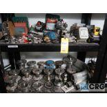 Lot of miscellaneous items including sensors, valves, calibrator, regulators, switches,