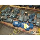 Lot of (10) gear drives with motors, various HPs (Finish Building)