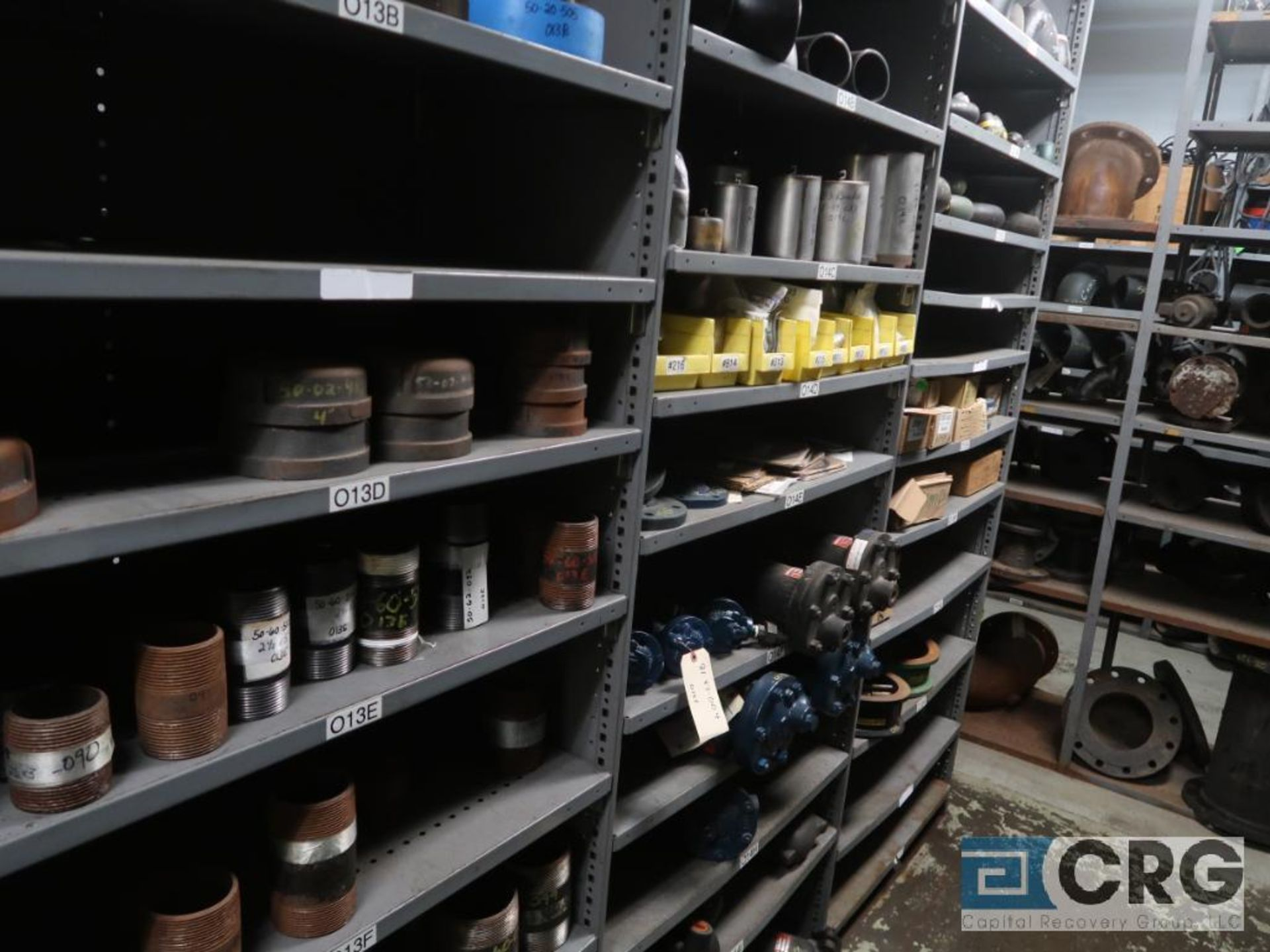 Lot of (30) sections with assorted parts including gears, chain, walves, packing, gaskets, and - Image 6 of 9