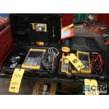 Lot of (3) Flume voltage testers, (1) 192B scope meter, (1) 43B power analyzer, and (1) 323 clamp