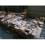 Lot of assorted Allen Bradley electrical automation on (13) pallets including sensors, relays, SLC