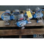 Lot of (5) Jamesbury stainless actuator valves, (4) 1 1/2 in., and (1) 1 in. (Finish Building)