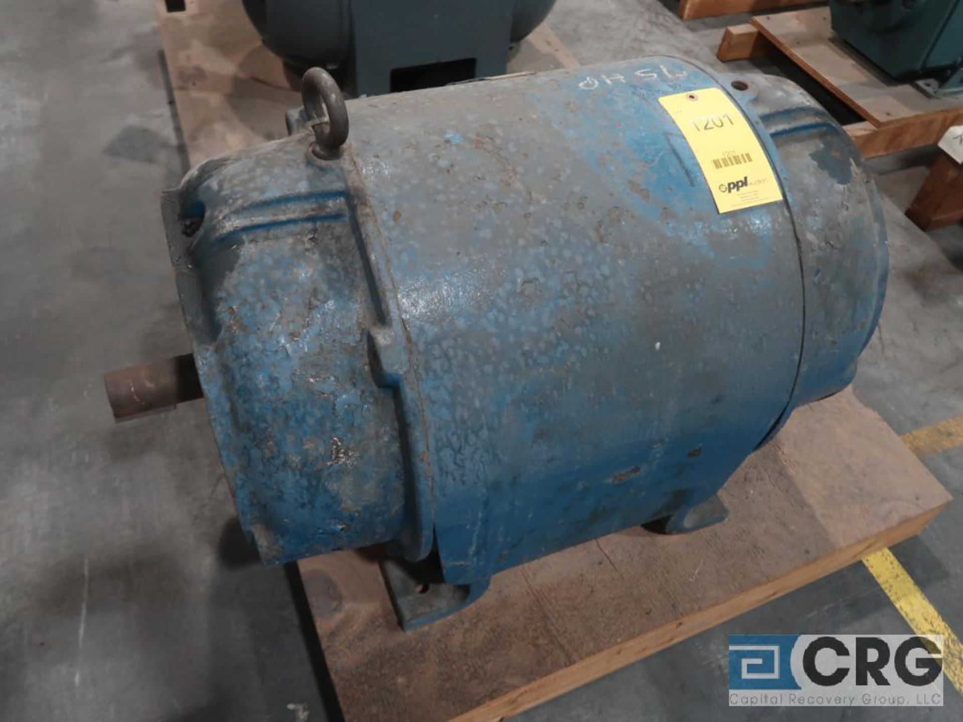 Reliance induction motor, 75 HP, 1,775 RPMs, 440 volt, 3 ph., CB445-S frame (Finish Building)