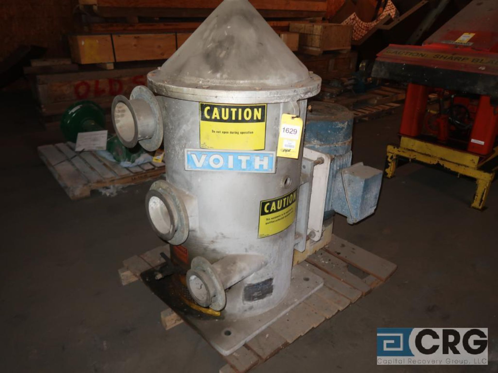Voith stainless screener with 30 HP motor, size 05VS, dia. 20.00, s/n 2815 (Off Site Warehouse)