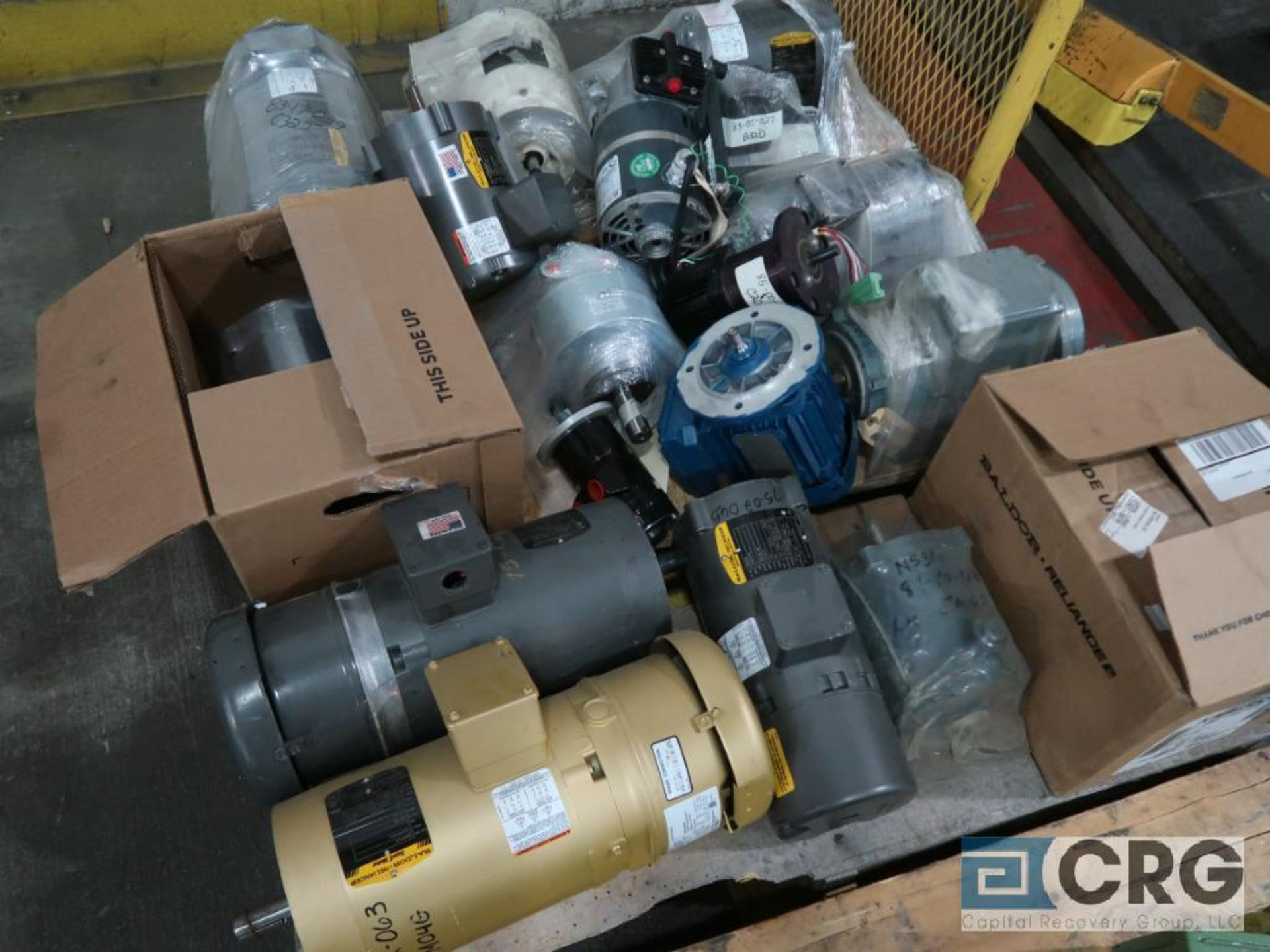 Lot of (2) pallets of assorted motors, various HPs (Finish Building) - Image 2 of 2
