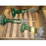 Lot of (3) assorted Fisher valves including (1) 1 7/8 in., (1) 1 5/16 in., and (1) 7/8 in. (496 Dock