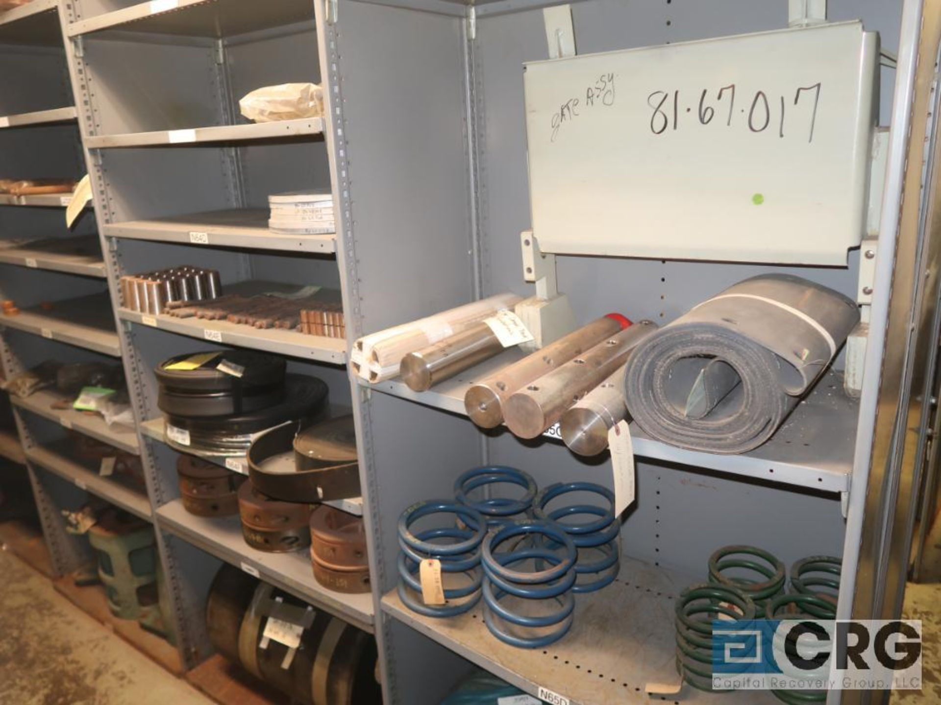 Lot of (35) sections with assorted parts including gaskets, fittings, shaft pins, gears, and - Image 16 of 17