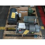 Lot of (2) pallets of assorted motors, various HPs (Finish Building)