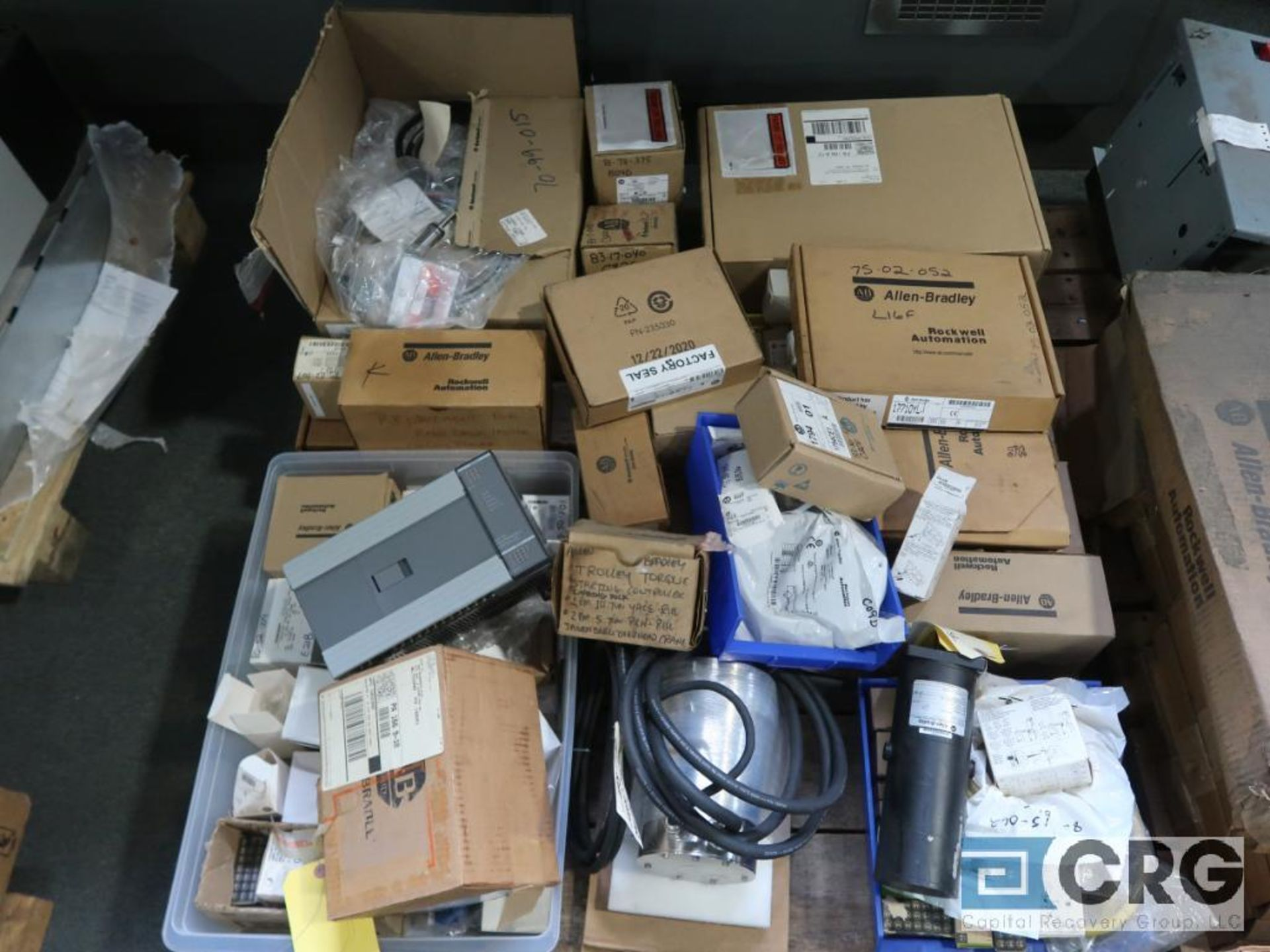Lot of assorted Allen Bradley electrical automation on (13) pallets including sensors, relays, SLC - Image 11 of 12