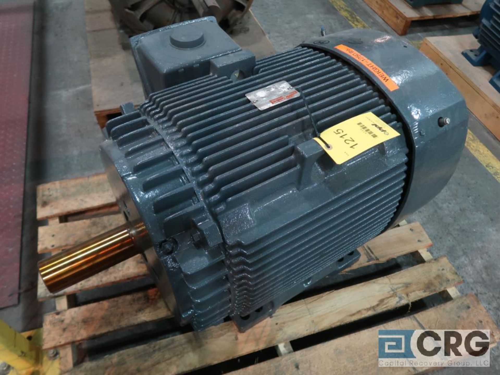 General Electric Extra Severe Duty Energy Saver XSD AC motor, 60 HP, 890 RPMs, 460 volt, 3 ph., 405T