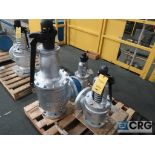 Lot of (3) safety relief valves, (1) 8 in., and (2) 6 in. (Finish Building)