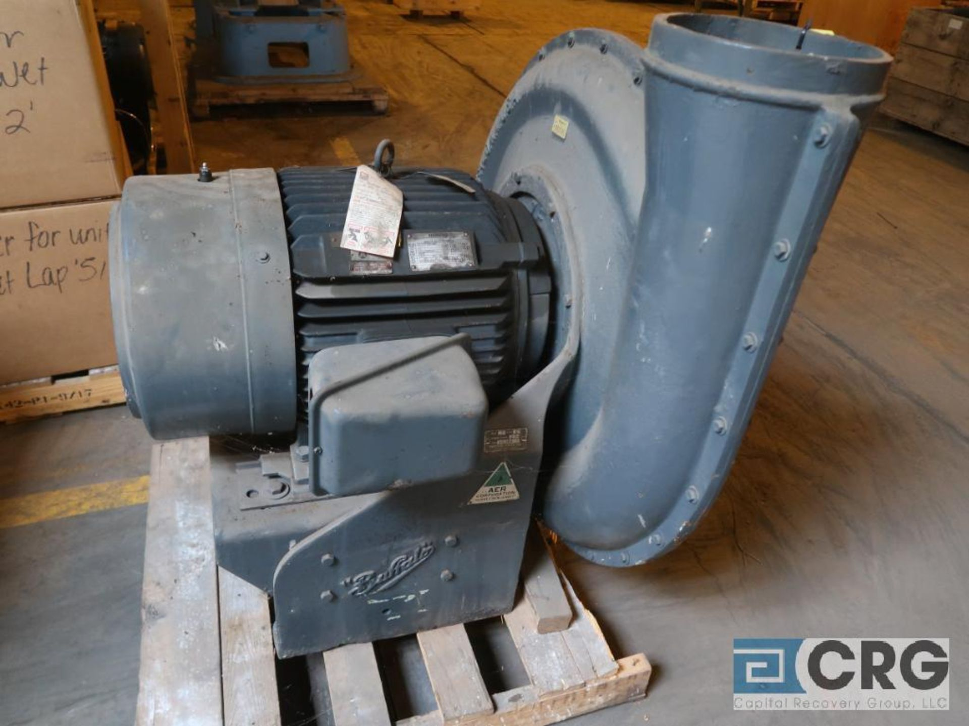Buffalo H blower unit with 75 HP motor, s/n 5294 (Next Bay Cage Area)