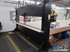 "10"" Hydraulic Embossing Press, 55 Ton Enerpac pump & cylinder, (press is vertical & adjustable),"