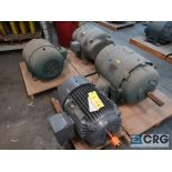 Lot of (4) assorted 40 HP electric motors including (2) U.S. Electrical, (1) Siemens, and (1)
