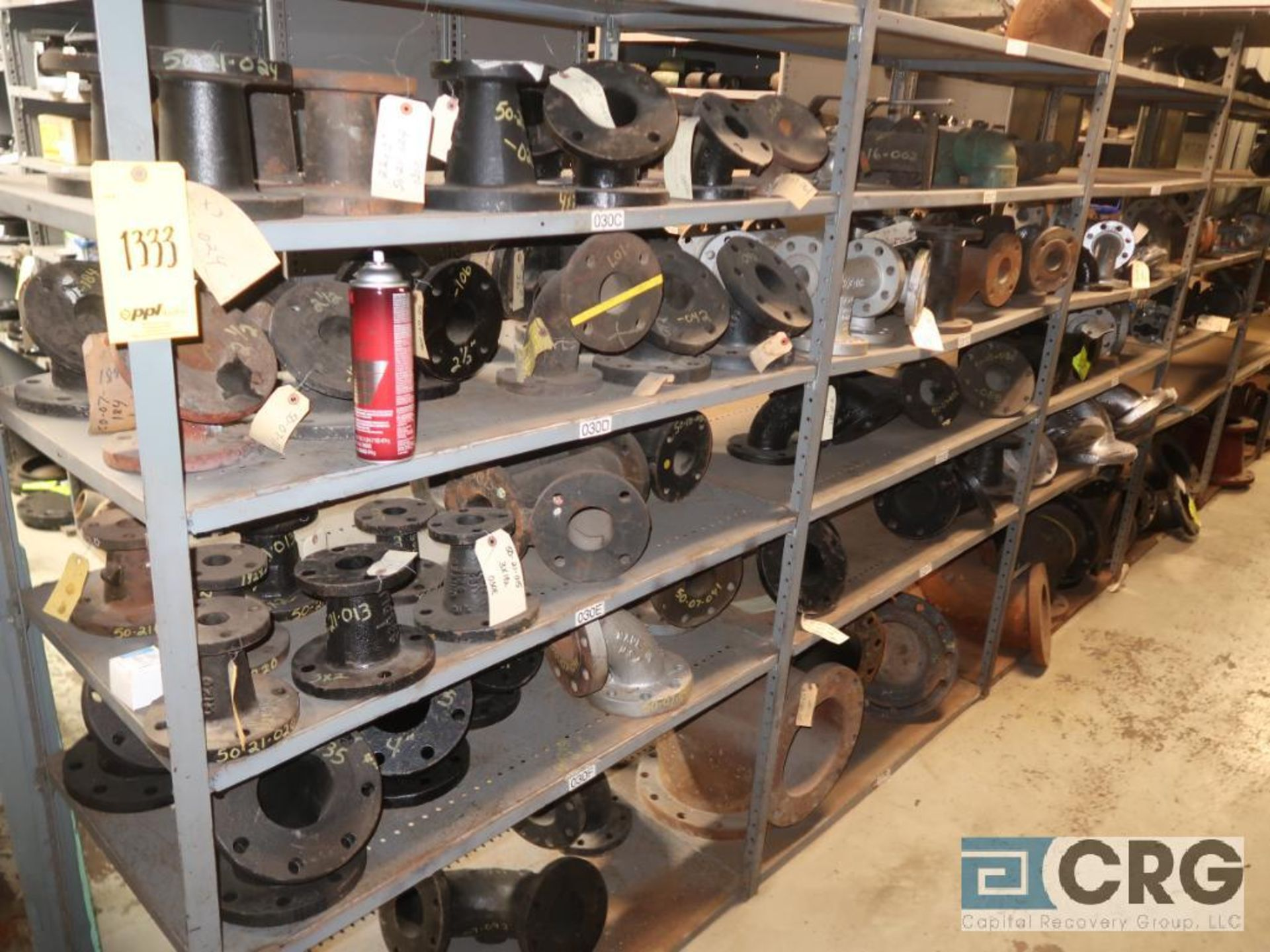 Lot of (15) sections with assorted parts including fiberglass pipes, fittings, steel fittings, tee' - Image 11 of 11