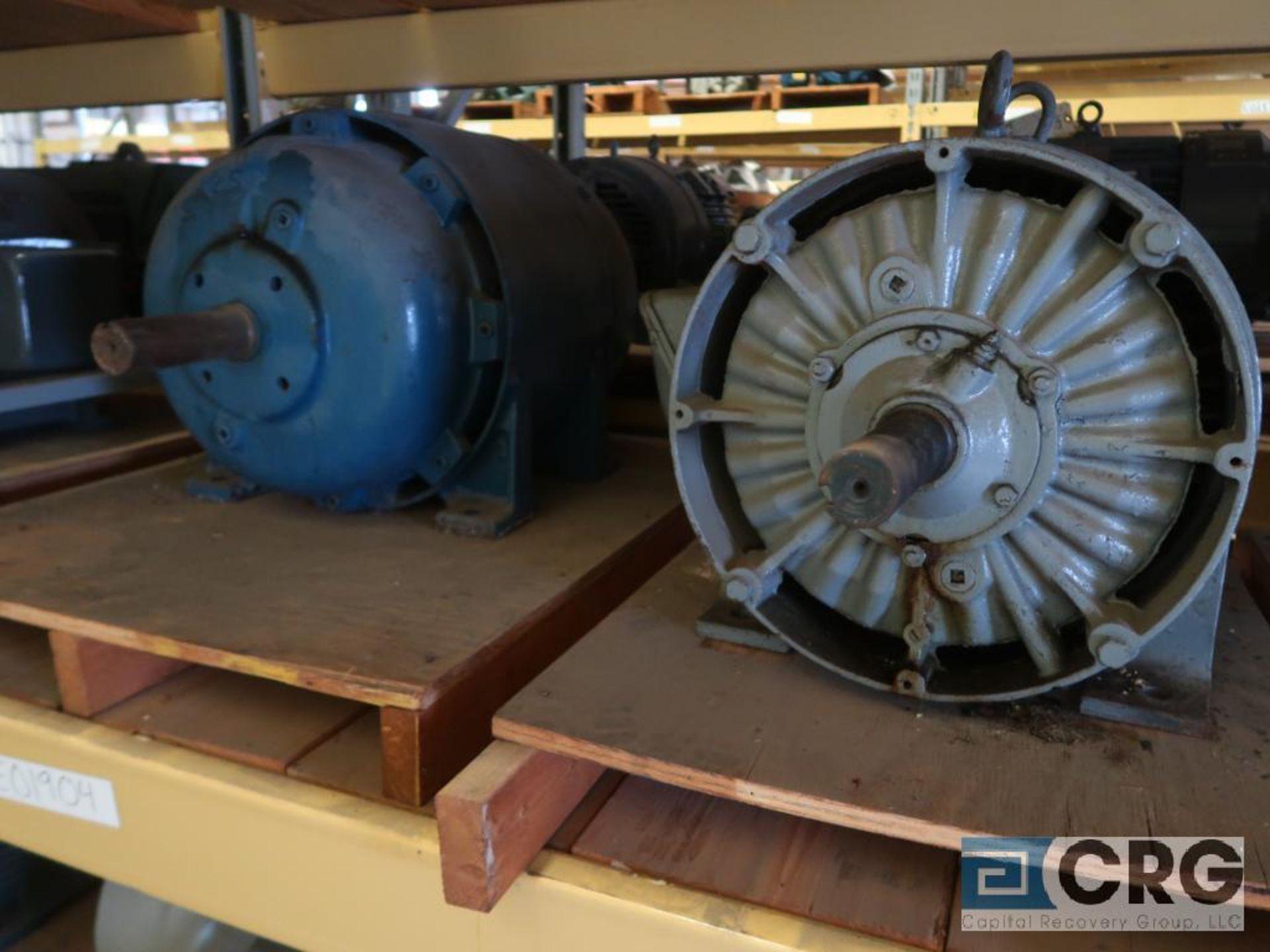 Lot of (5) assorted 25 HP motors on (2) shelves (Motor Building) - Image 2 of 3