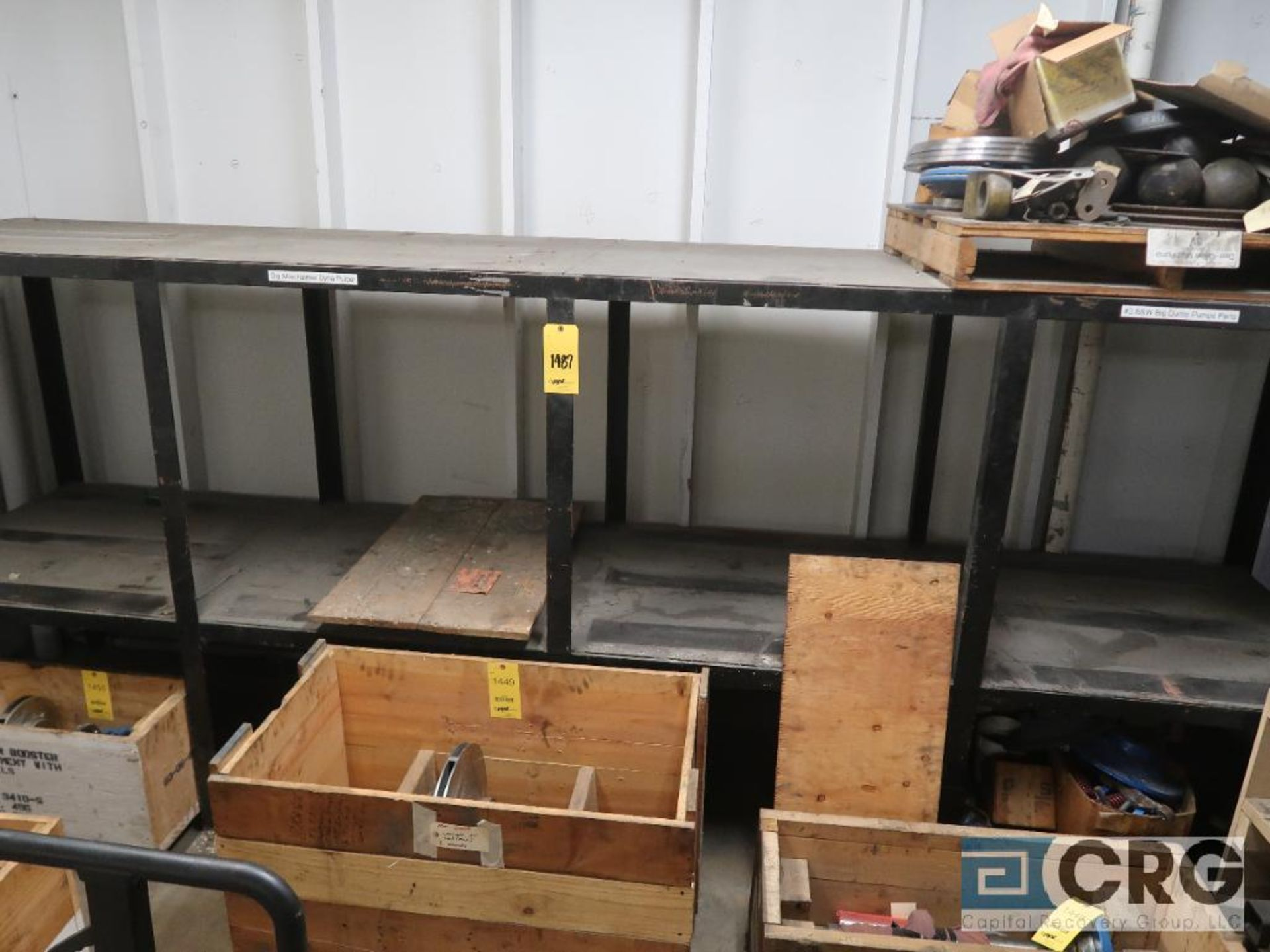Lot of (8) sections shop built rack including (1) 90 in. L x 36 in. W x 76 in. H, (1) 16 ft. L x - Image 3 of 4