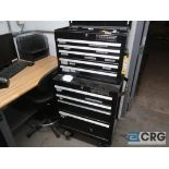 Craftsman 9 drawer rolling tool box with assorted hand tooling (Inside Shop-496 Dock Area)