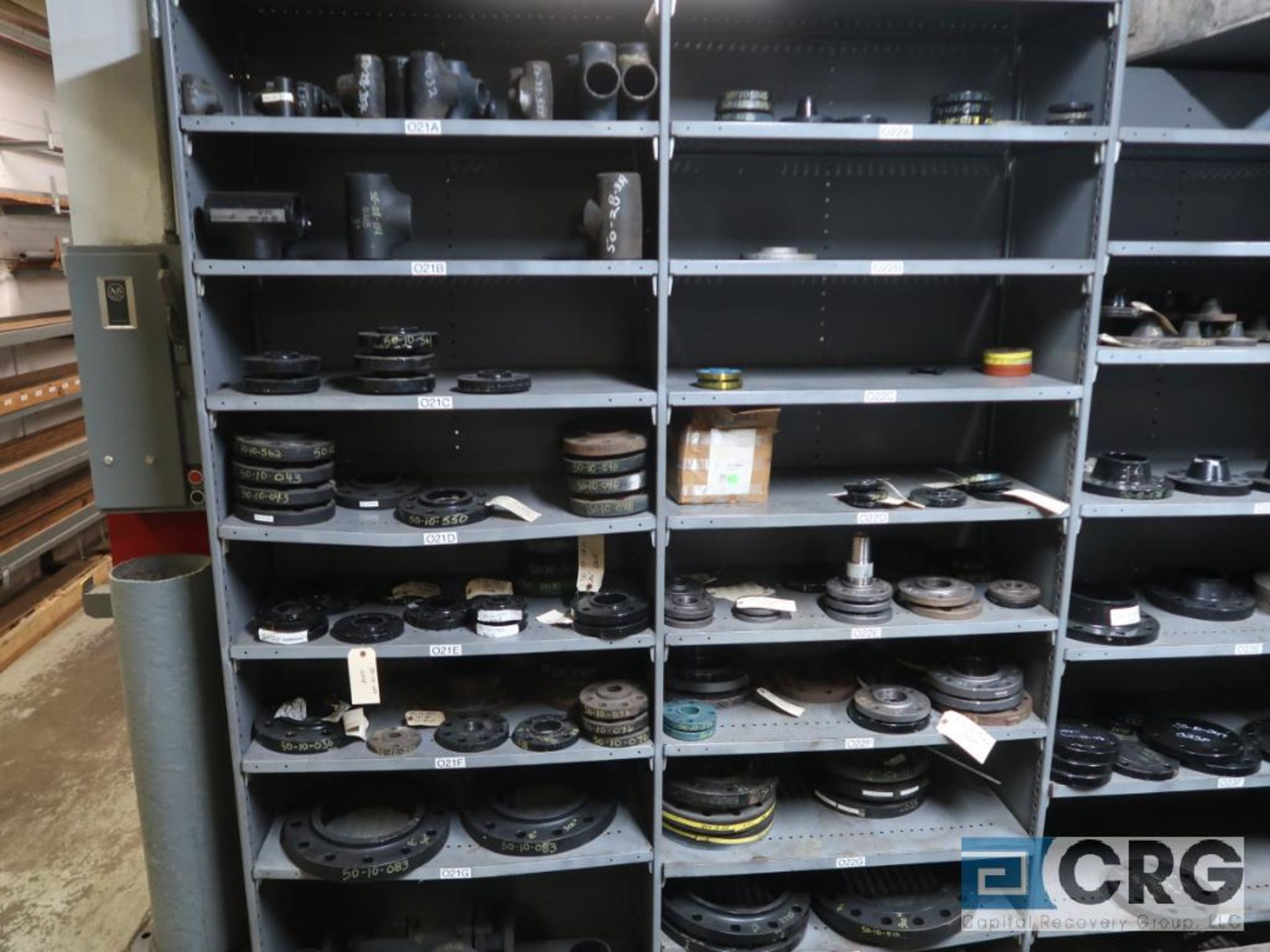 Lot of (30) sections with assorted parts including gears, chain, walves, packing, gaskets, and - Image 8 of 9