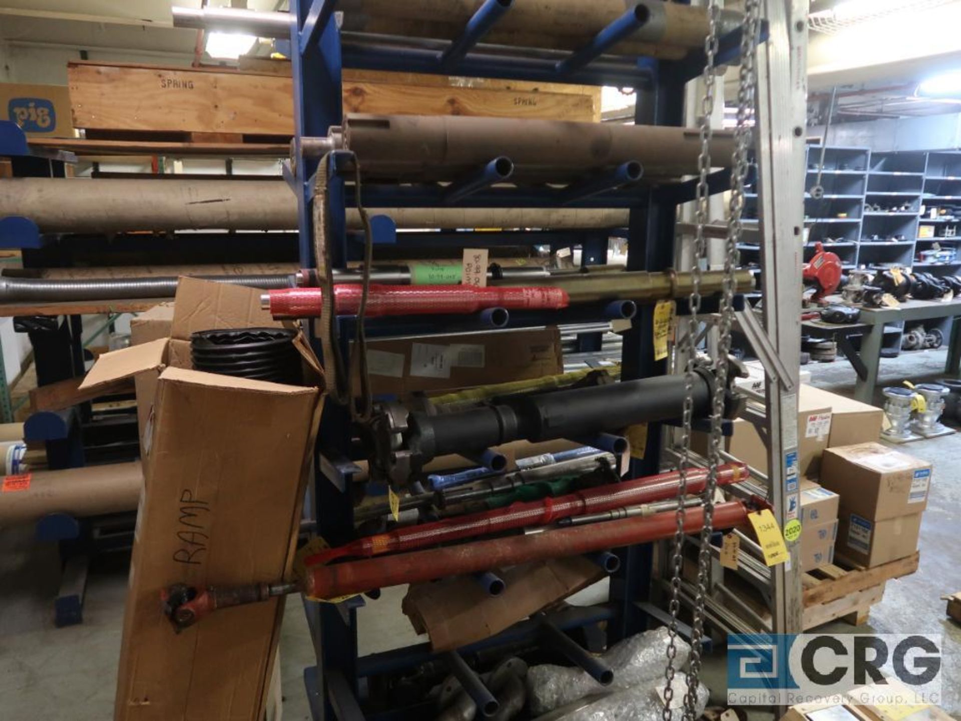 Lot of cantilever rack with drive shafts (Store Basement)