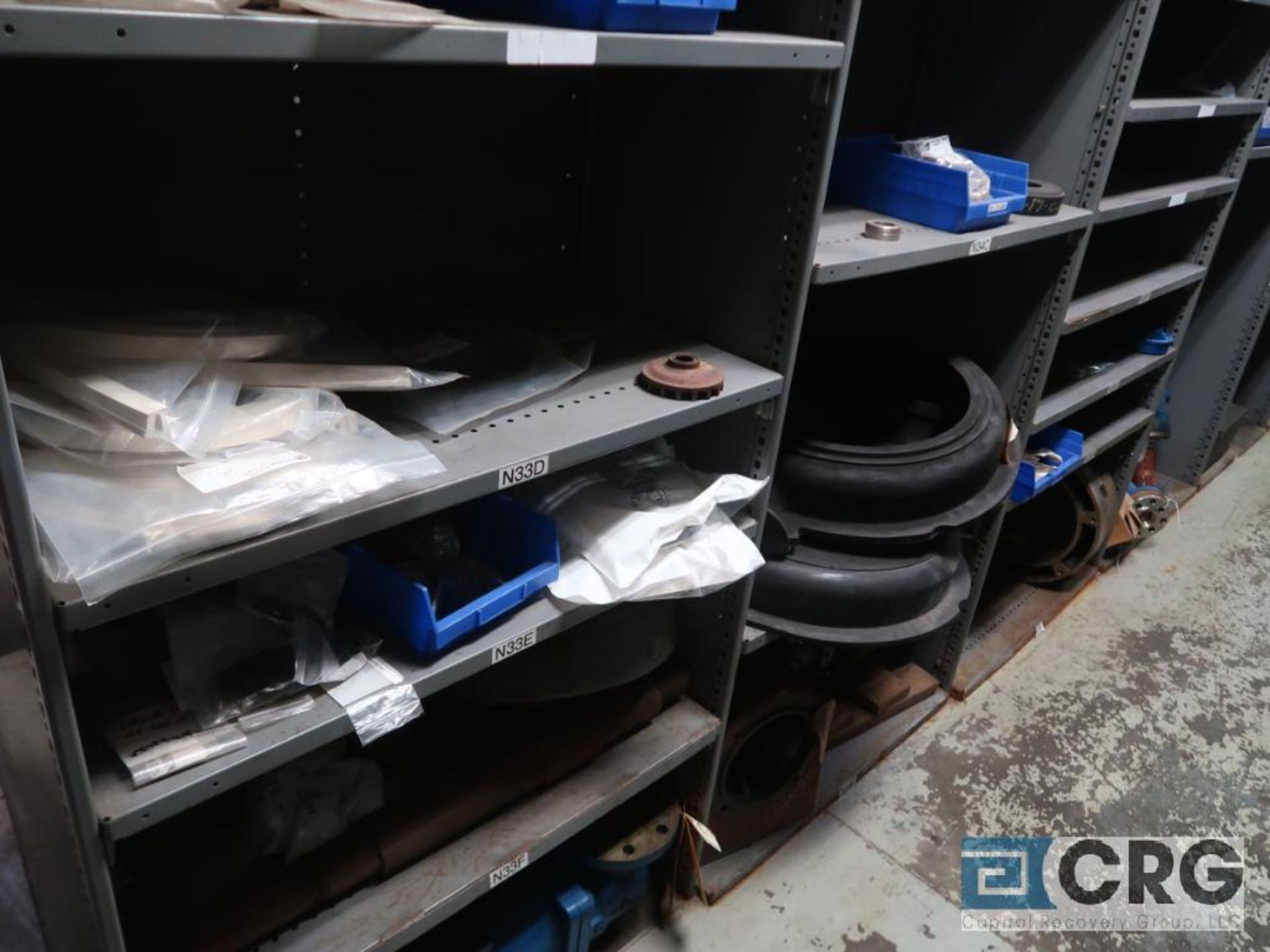 Lot of (16) sections with assorted pumpparts including gaskets, rupture discs, valves, and drives- - Image 5 of 8