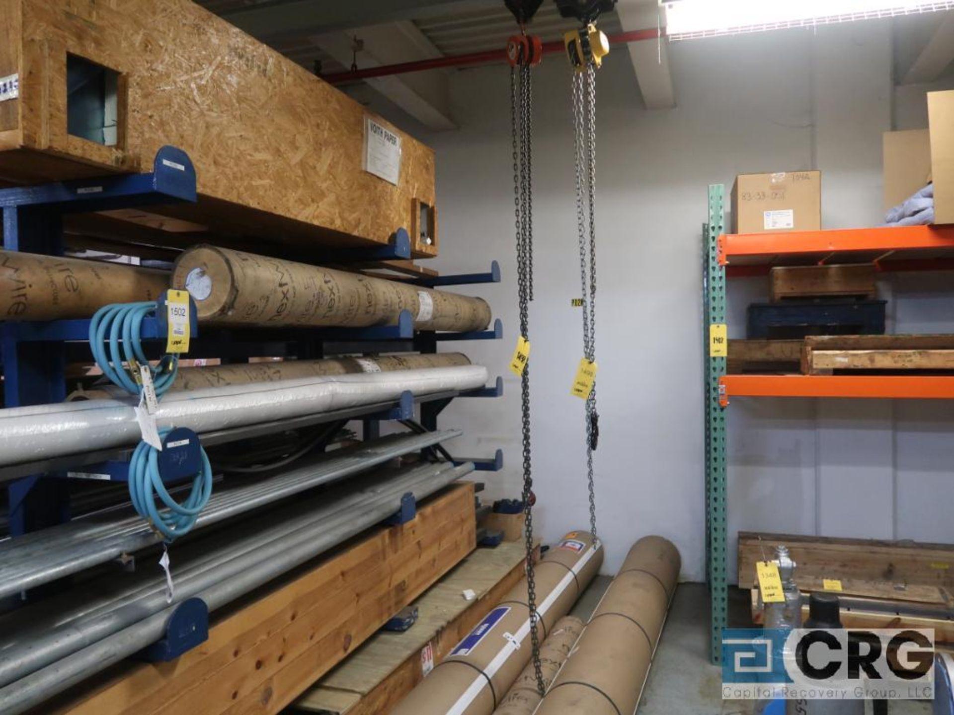 Lot of (3) chain hoists, 1/2 ton cap.-no rail (Stores Area) - Image 2 of 3