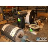 Lot of conveyor parts including belting, pulleys, and rollers (Next Bay Cage Area)