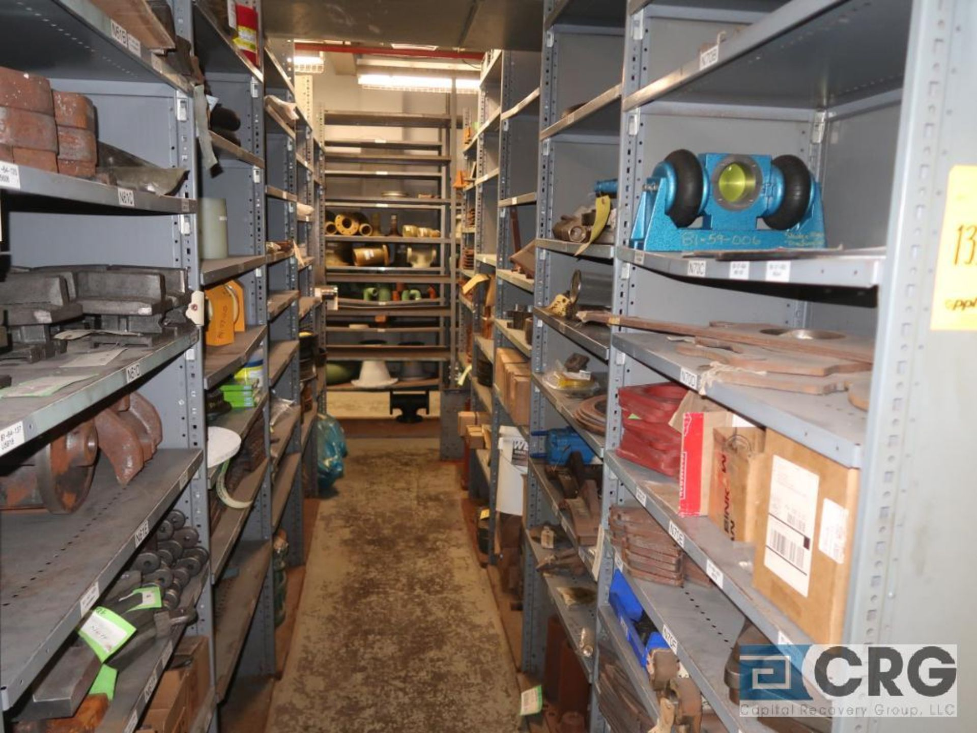 Lot of (35) sections with assorted parts including gaskets, fittings, shaft pins, gears, and - Image 12 of 17
