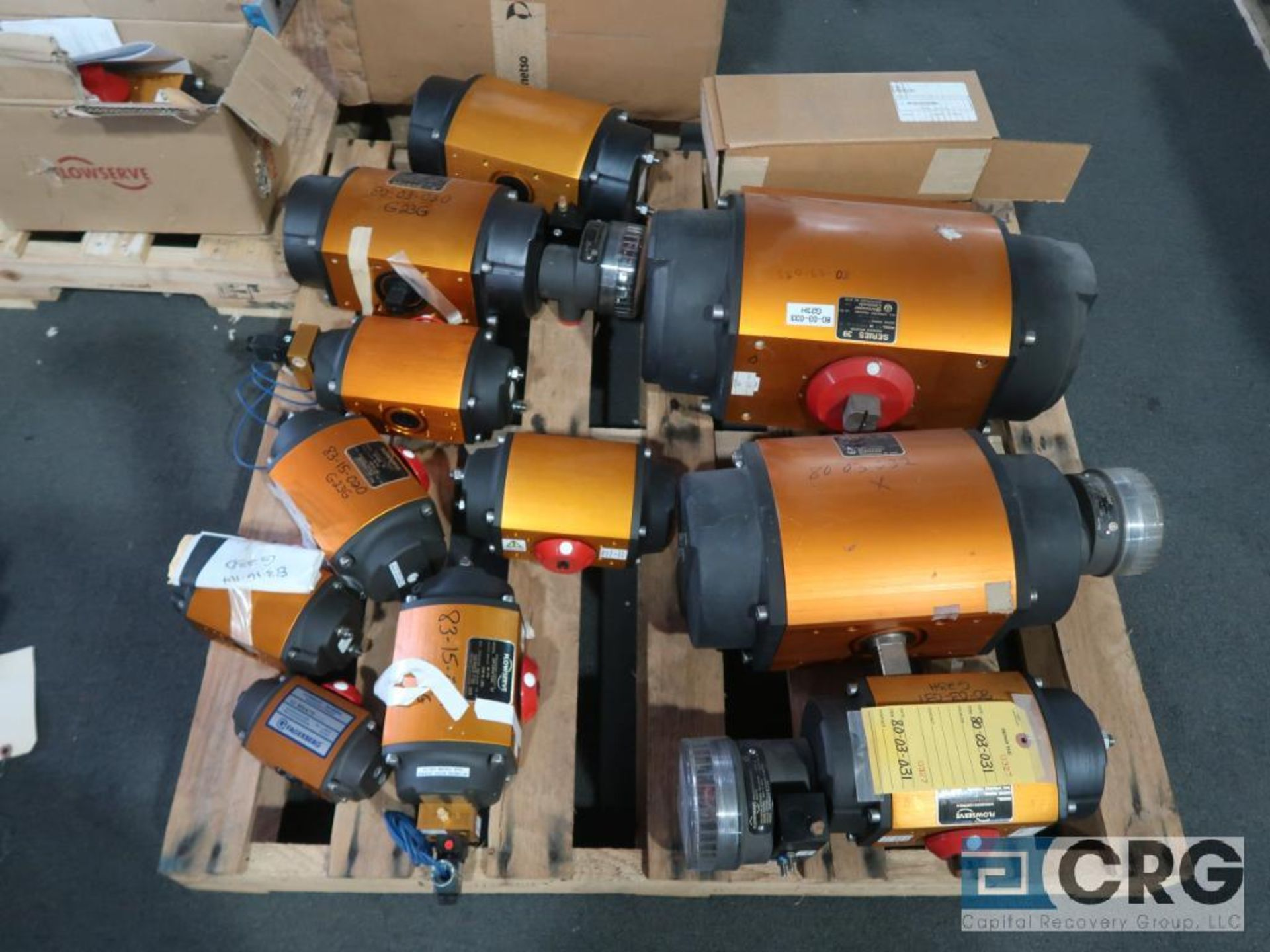 Lot of Jamesbury and Worchester actuators on (3) pallets (Finish Building) - Image 3 of 3