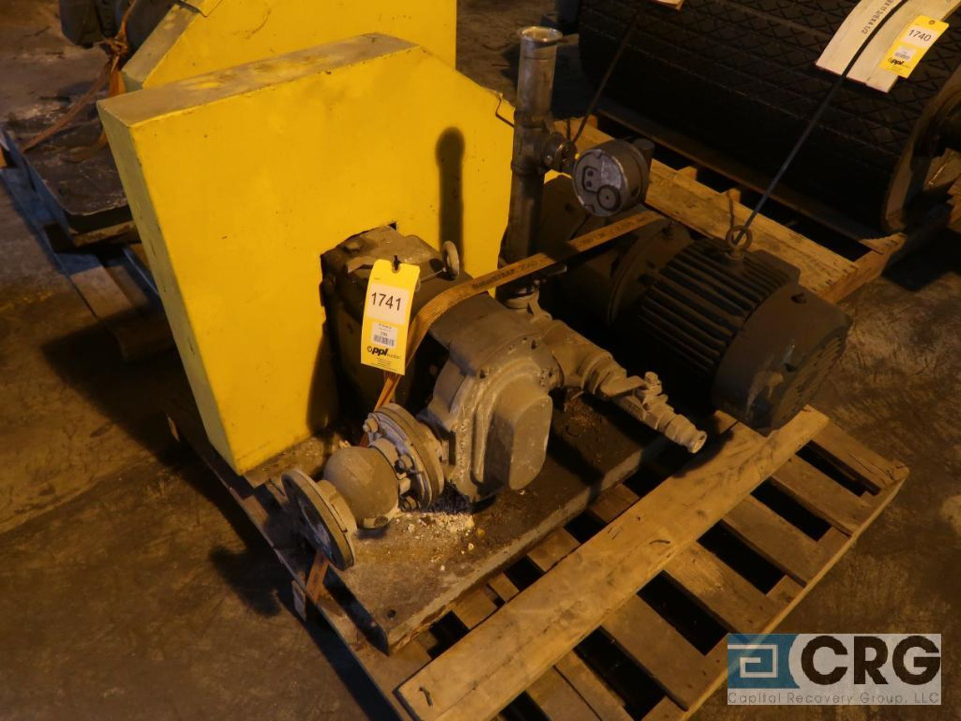 Waukesha 5050 positive displacement pump with 5 HP motor (Next Bay Cage Area)