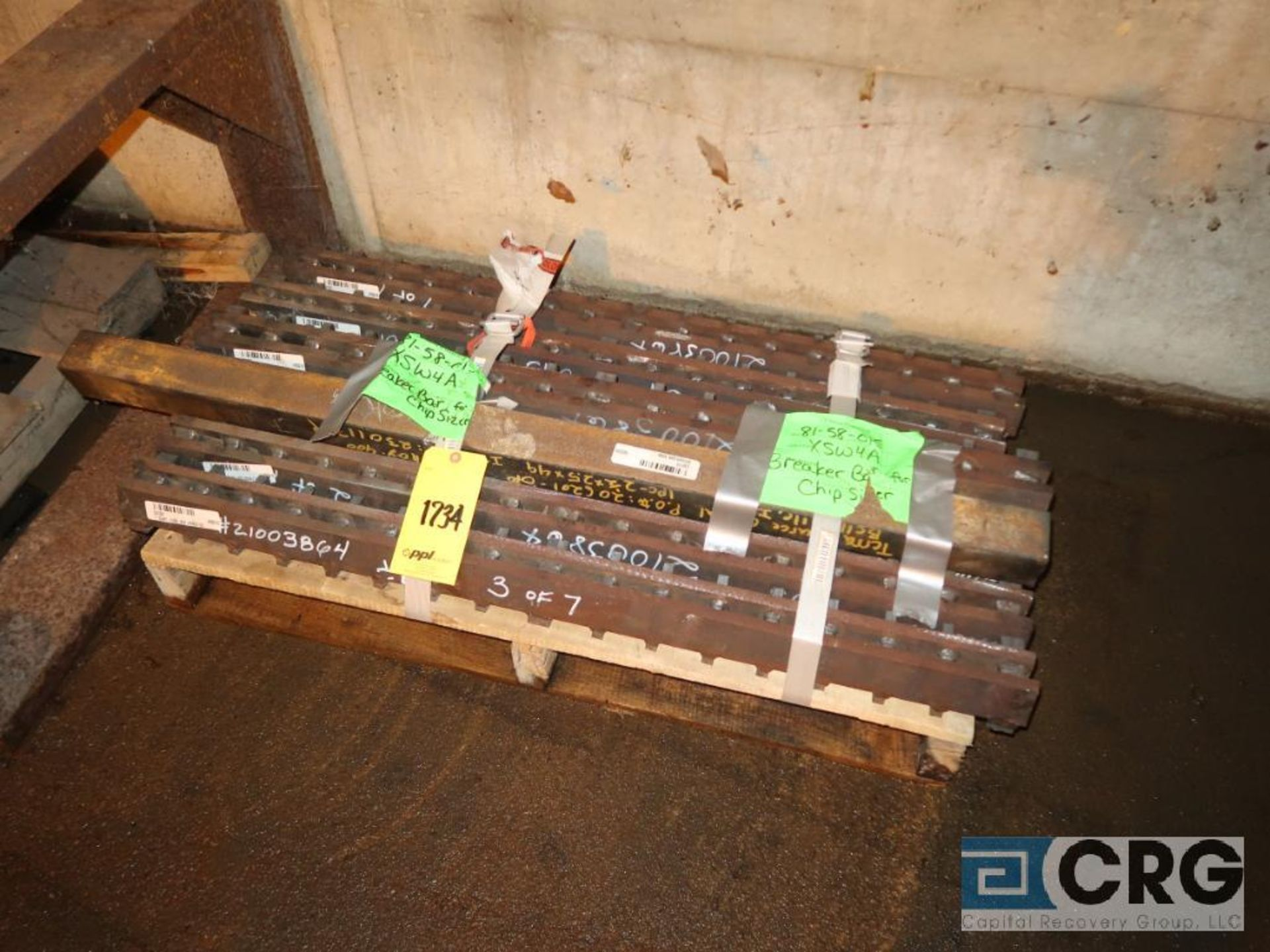 Lot of assorted parts for debarker, coal, and chipper on (29) pallets (Next Bay Cage Area) - Image 4 of 17
