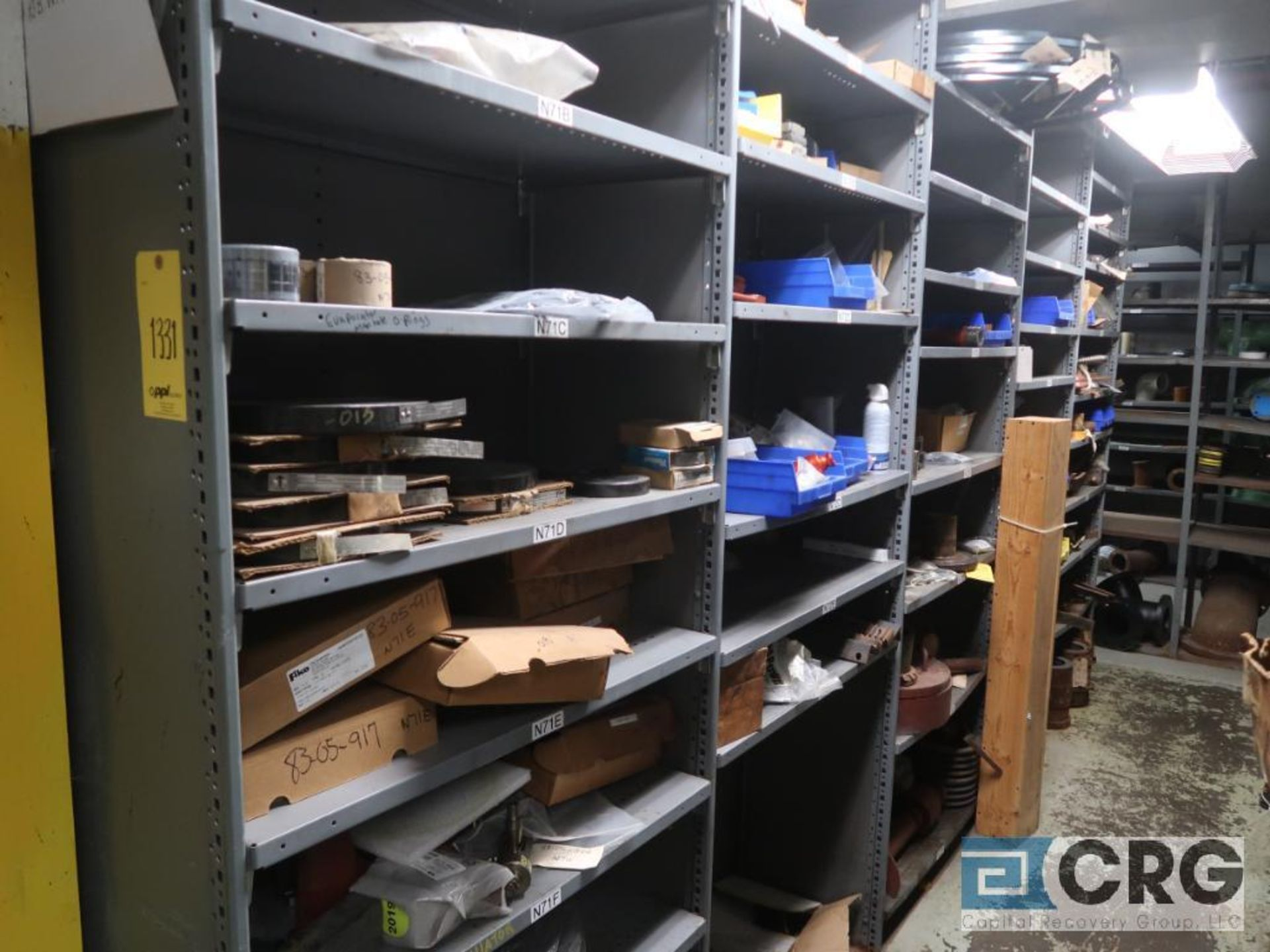 Lot of (35) sections with assorted parts including gaskets, fittings, shaft pins, gears, and - Image 17 of 17