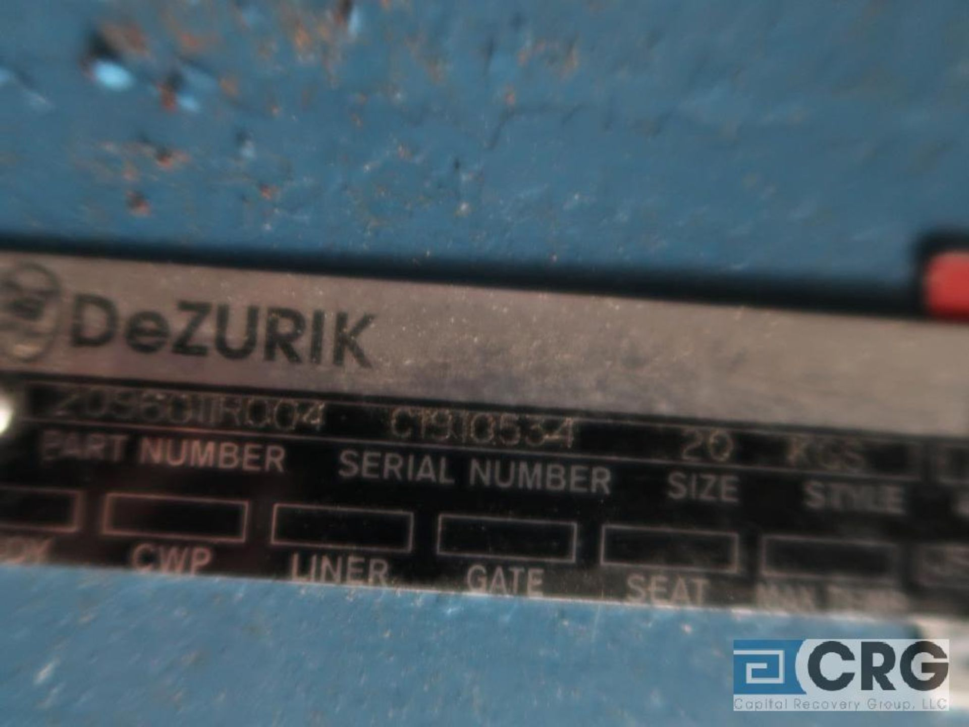 Dezurik 20 in. stainless pneumatic gate valve (Off Site Warehouse) - Image 3 of 3
