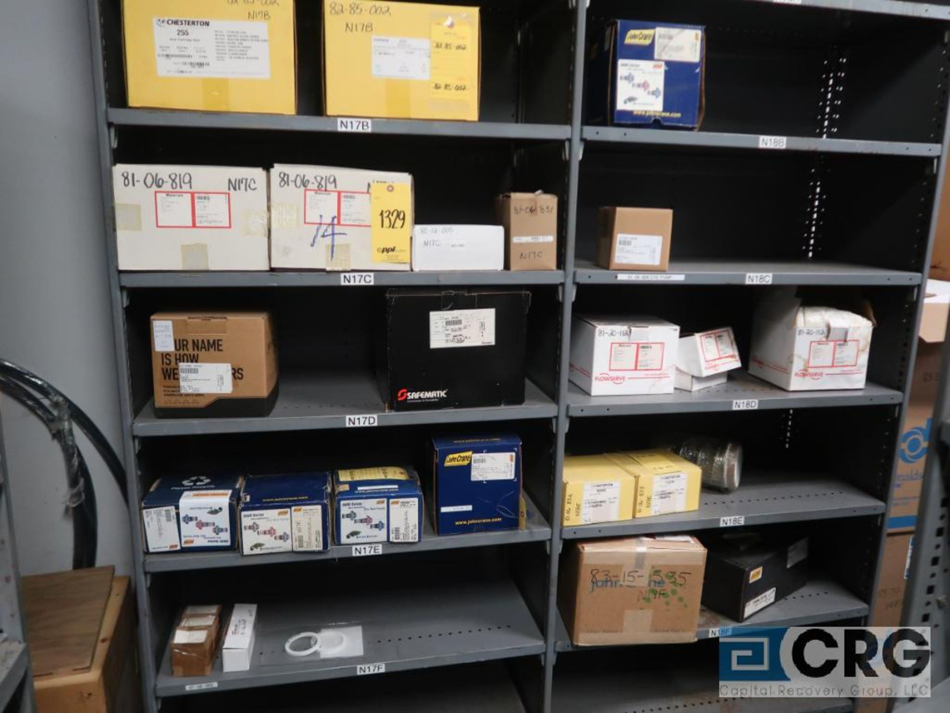 Lot of (16) sections with assorted pumpparts including gaskets, rupture discs, valves, and drives- - Image 8 of 8