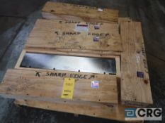 Lot of (5) boxes of Lancaster blades for chipper, (6) per box, 31 in. x 7 in. W (Basement Stores)
